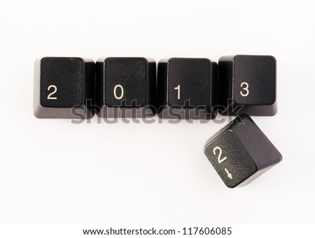 Keyboard keys - 2013 is coming