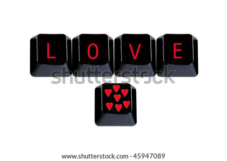 keyboard keys love