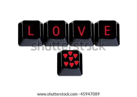 keyboard keys love