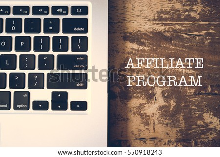 Keyboard Laptop Affiliate Program Internet Online Networking Global Communication Concept
