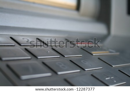 keyboard of cash machine in macro