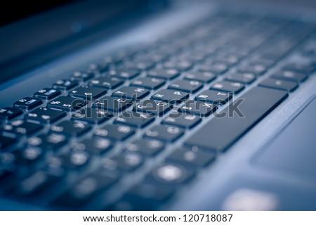 Keyboard of laptop closeup #120718087