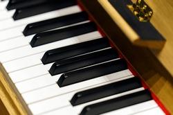 Keyboard of old celesta, bell-piano