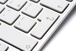 Keyboard on a white background, close-up