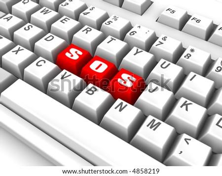 Keyboard. sos. 3d