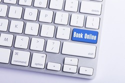 Keyboard with Book Online Button