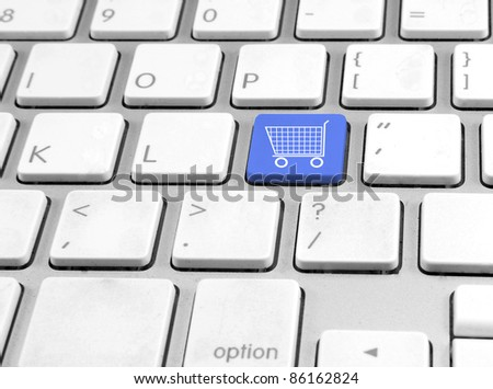 Keyboard with button Shopping cart