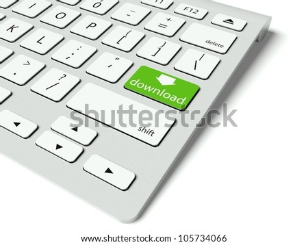 Keyboard with Fun buttons, game concept