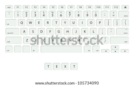 Keyboard with Fun buttons, game concept - stock photo