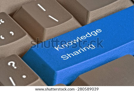 keyboard with Hot key for knowledge sharing
