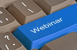 Keyboard with hot key for webinar