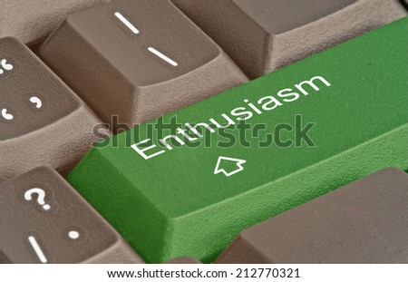 Keyboard with key for enthusiasm