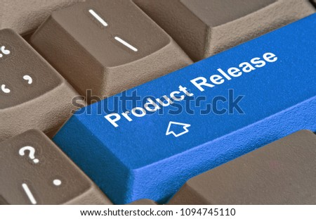 Keyboard with key for product release