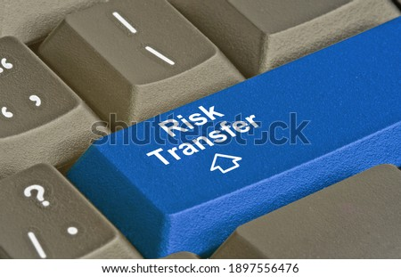 Keyboard with key for risk transfer Photo stock ©