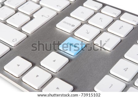 Keyboard with keypad cloud placed in blank space on standard keyboard - cloud computing concept