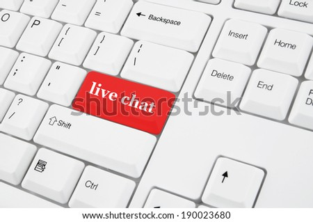 Keyboard with live chat red button