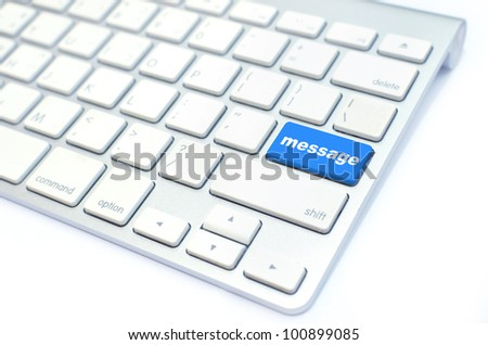 keyboard with message button