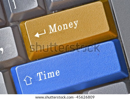 Keyboard with money and time keys
