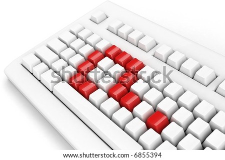 keyboard with question-mark. concept