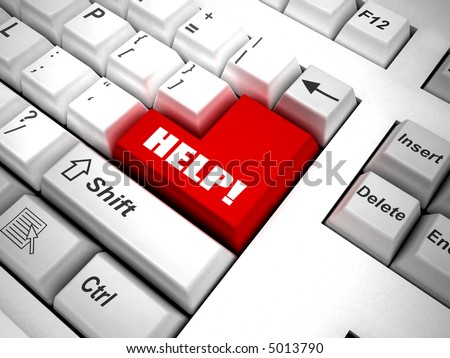 """Keyboard with """"search"""" button 3d - stock photo"""
