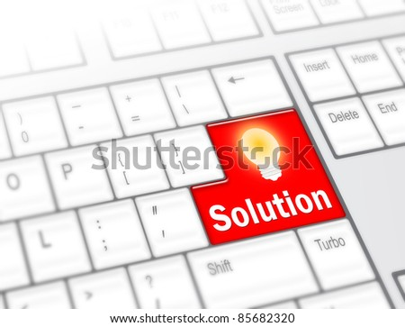 Keyboard with Solution button