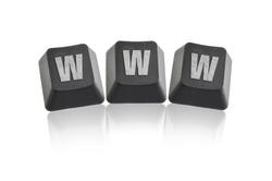 Keyboard www arranged with letters.