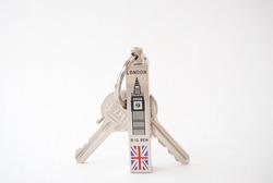 Keychahin london bigben keys with british flag