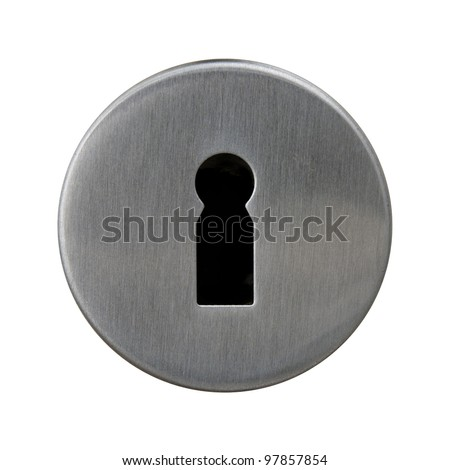keyhole isolated on white background