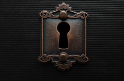Keyhole on old fashioned door lock