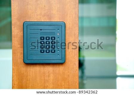 keypad on security door