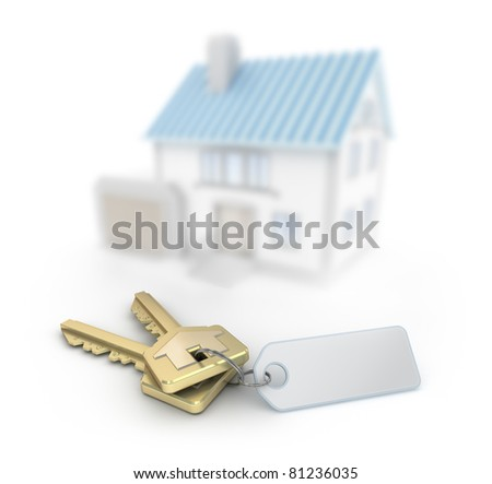 Keys and defocused house