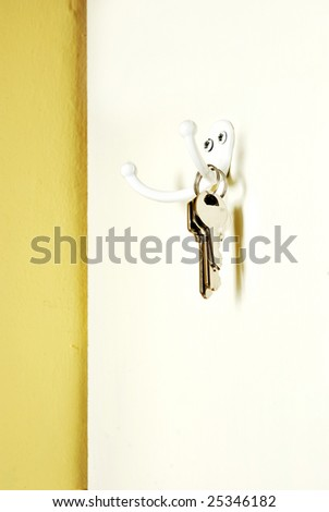 keys hanging from a hook