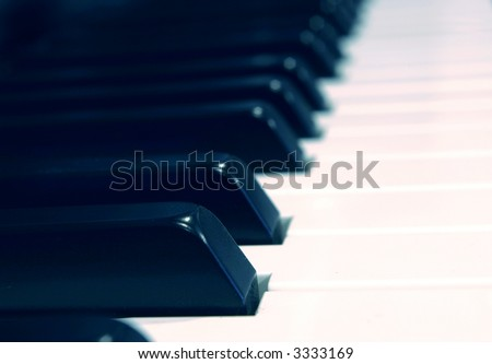 Keys in Blue Tint - High Resolution Photograph