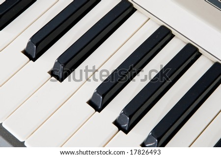 Keys of a piano. That the music sounds! - stock photo