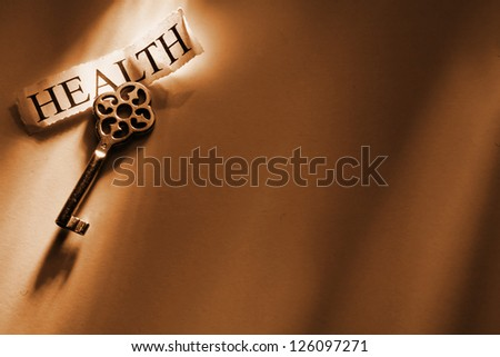 keys of to conceptual things in dramatic lighting