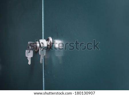 Keys on a locker door