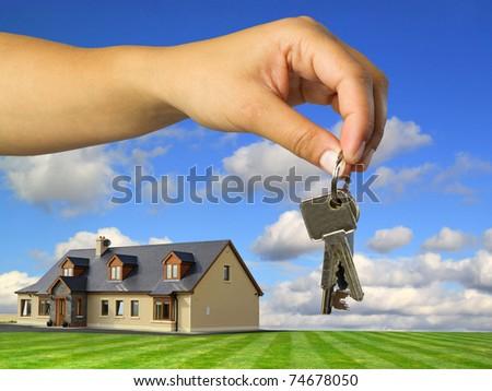 Keys to new idyllic house