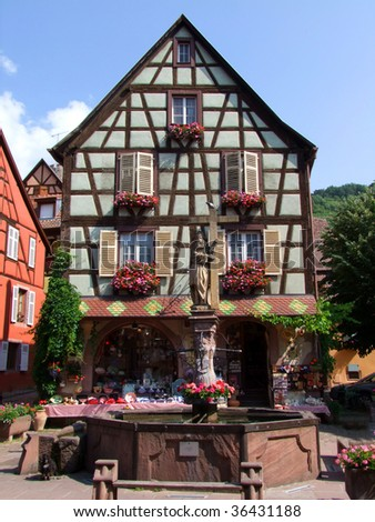 Keysersburg, Alsace typical house