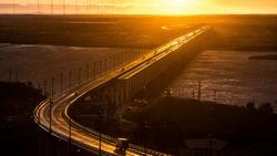 Khabarovsk bridge is a road Railway bridge, which crosses the Amur river at Khabarovsk, Eastern Russia