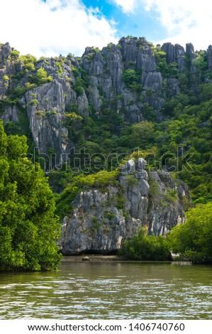 Khao Daeng Limestone hill, KHAO SAM ROI YOT National Park, Thailand #1406740760