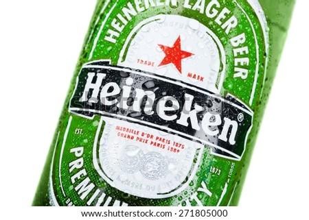 KHERSON, UKRAINE - NOVEMBER 05, 2014: Heineken, cold, netherlands.