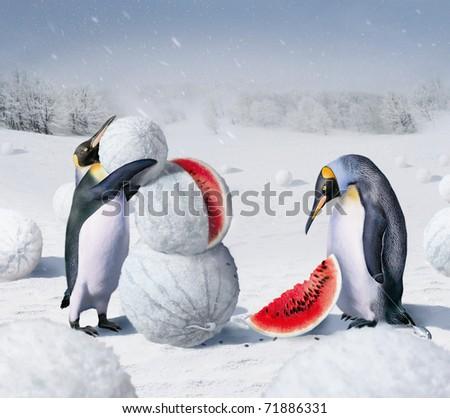 kherson winter - stock photo