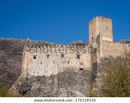 Khertvisi fortress, one of the oldest fortresses in Georgia, Caucasus.