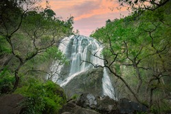 Khlong Lan Waterfall, Beautiful waterfalls in klong Lan national park of Thailand. Khlong Lan Waterfall, KamphaengPhet Province - Thailand.
