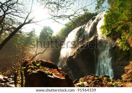 Khlong Lan Waterfall ,KamphaengPhet Province, Thailand