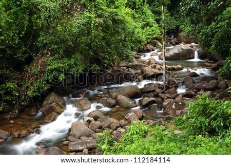 Khlong Narai Waterfall at Chanthaburi,Thailand