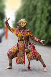 Khon is art culture Thailand Dancing in masked. Khon is thailand culture and traditional.