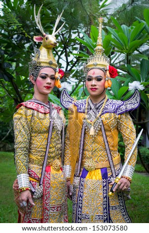 Khon Show Ancient Performance In Beautiful Costume Of Thailand