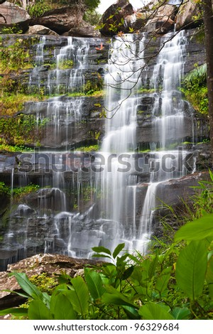 Khunphong Waterfall in deep jungle, Phu Kradueng National Park, Loei Province, Thailand