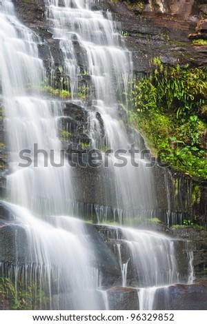 Khunphong Waterfall in deep jungle, Phu Kradueng National Park, Loei Province, Thailand